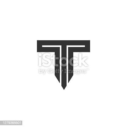 istock Letter T Logo Lettermark Monogram - Typeface Type Emblem Character Trademark 1279365501