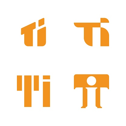 Letter T logo variation