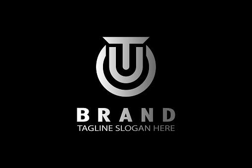 letter T U monogram