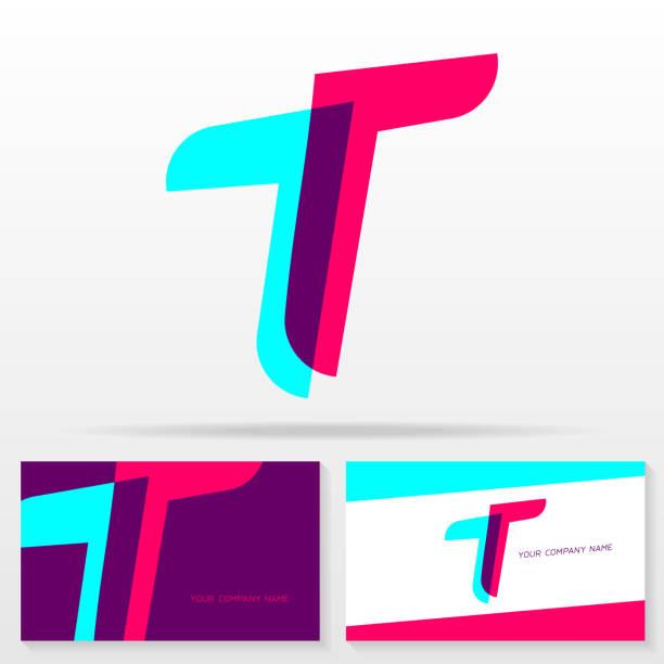 Letter T vector sign - Stock vector emblem. Letter T vector sign - Stock vector emblem. Business card templates. letter t stock illustrations