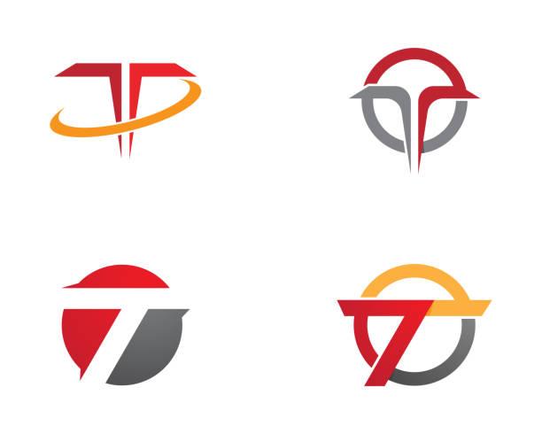 T Letter   Template T Letter   Template Vector illustration design letter t stock illustrations