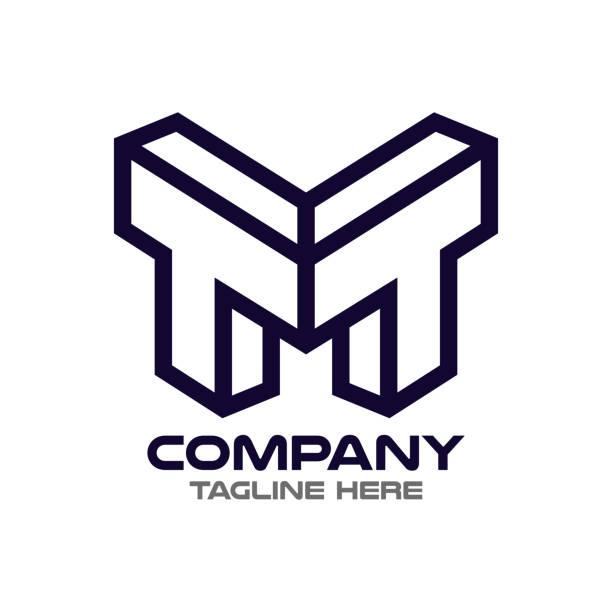 letter TM/MT logo letter TM/MT logo letter t stock illustrations