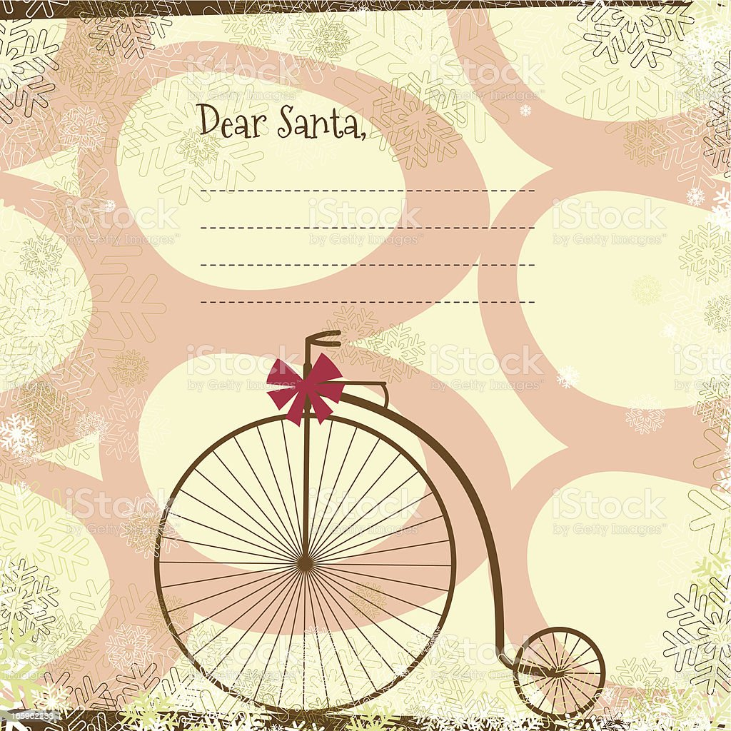 Letter to Santa background royalty-free stock vector art
