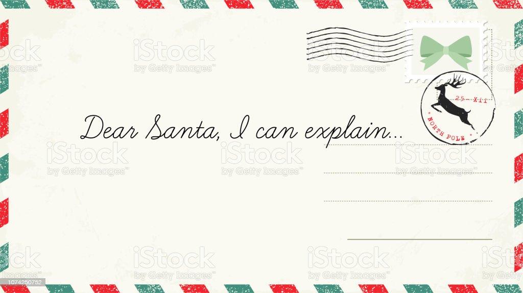 La Poste Lettre Aux Pere Noel.Lettre Au Pere Noel Carte Postale De Noel Avec Timbres