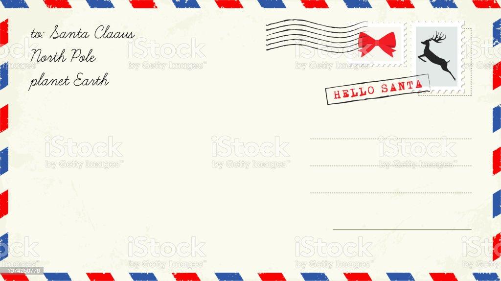 Faut Il Un Timbre Pour La Lettre Au Pere Noel.Lettre Au Pere Noel Carte Postale De Noel Avec Timbres