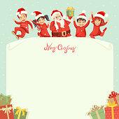 Letter to Santa. Happy Kids.