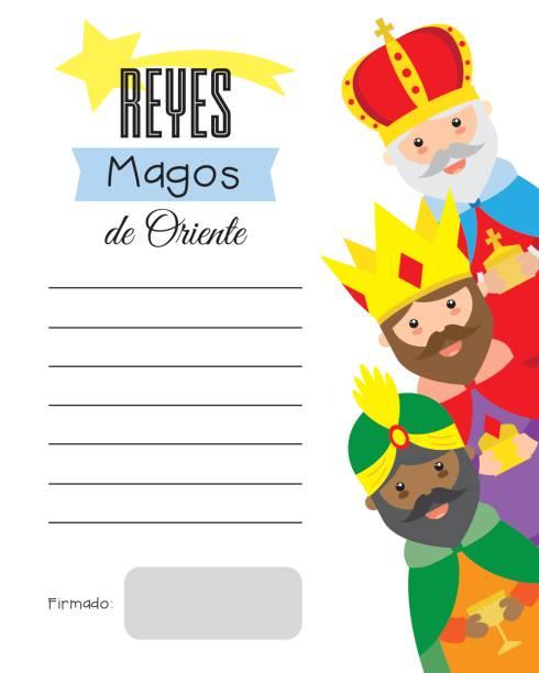 ilustrações de stock, clip art, desenhos animados e ícones de letter to the three wise men of orient - reis magos