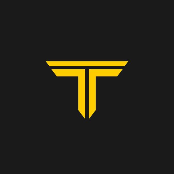 Letter TT T,T icon logo vector T letter icon is designed in vector format. letter t stock illustrations