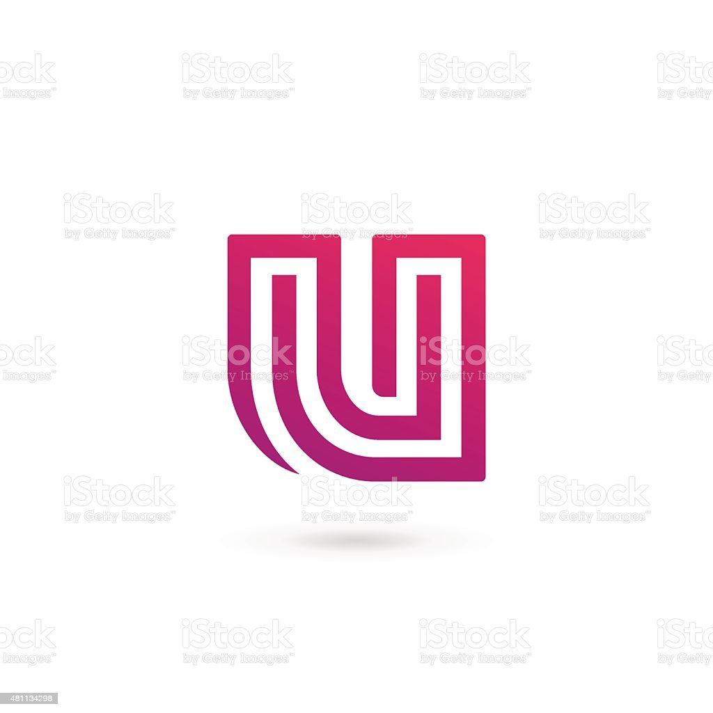 Letter U icon vector art illustration