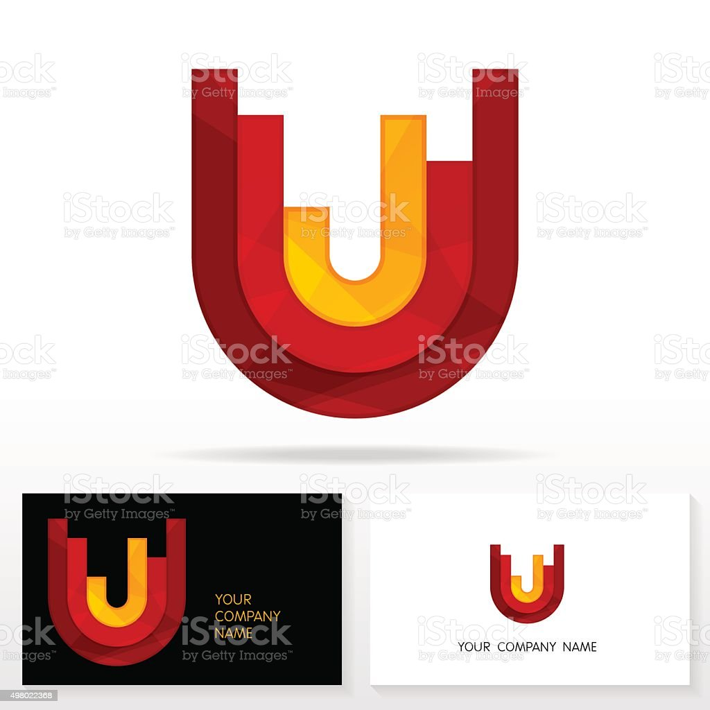 Letter U logo icon design template elements - Illustration. vector art illustration