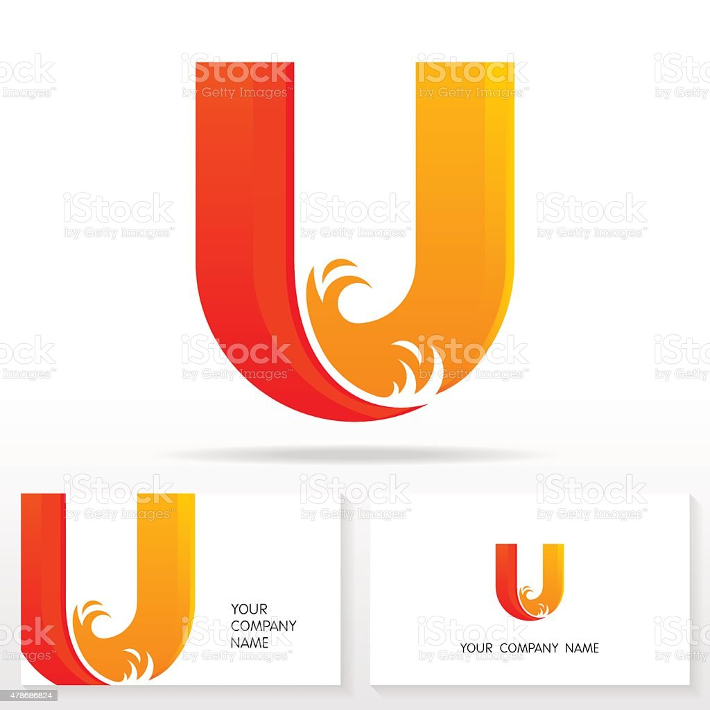 Letter U logo icon design template elements - Stock Vector vector art illustration