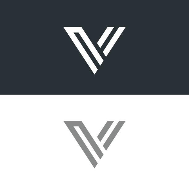 Letter V Icon Design Template Elements Vector Art Illustration