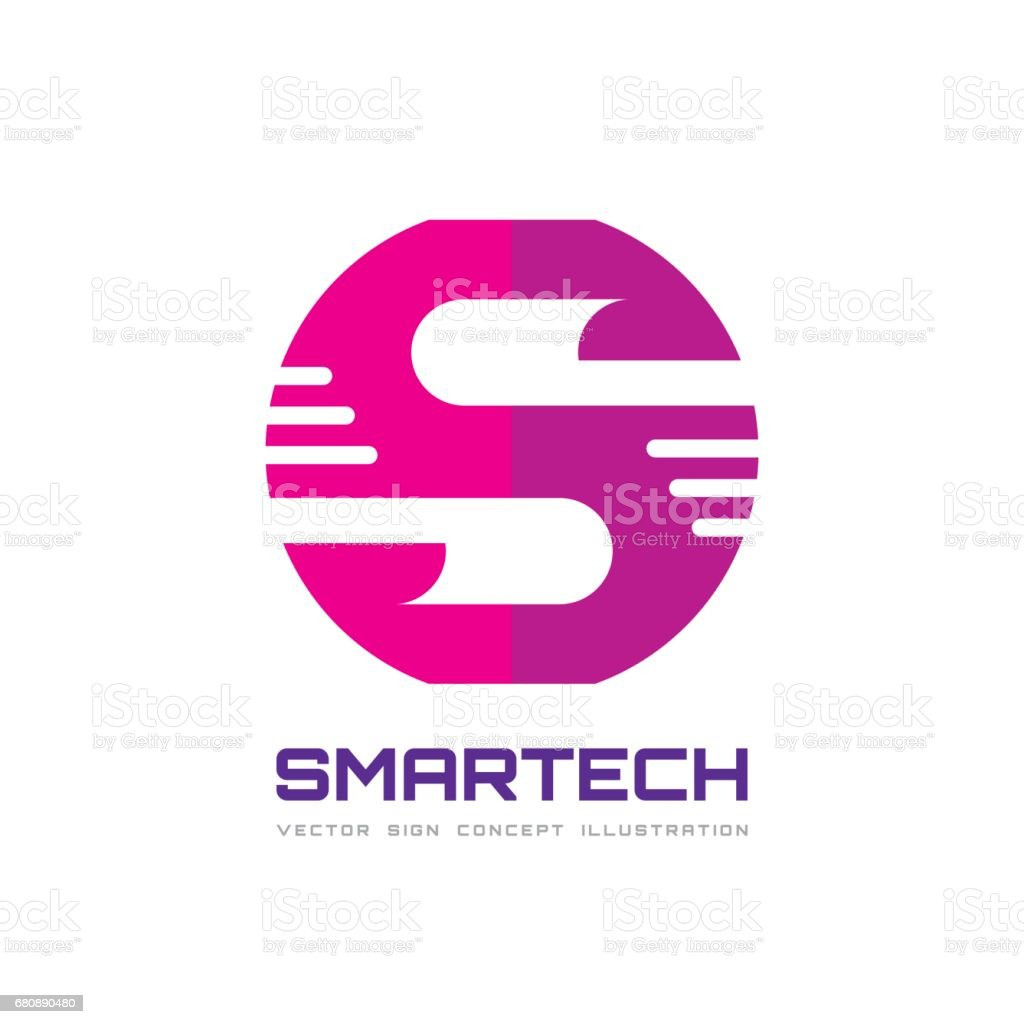 S letter - vector business sign concept illustration for corporate identity. Abstract geometric creative sign for mobile application. Graphic design element. royalty-free s letter vector business sign concept illustration for corporate identity abstract geometric creative sign for mobile application graphic design element stock vector art & more images of abstract