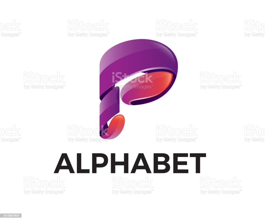 P letter vector icon vector art illustration