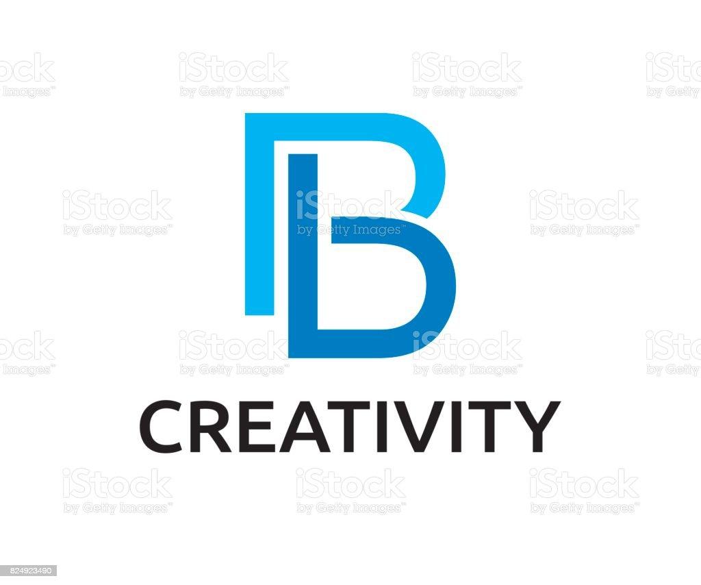 B harfi vektör simgesi vektör sanat illüstrasyonu