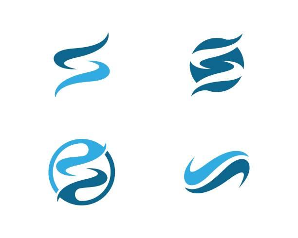 ilustraciones, imágenes clip art, dibujos animados e iconos de stock de logotipo de la letra s - yin yang symbol