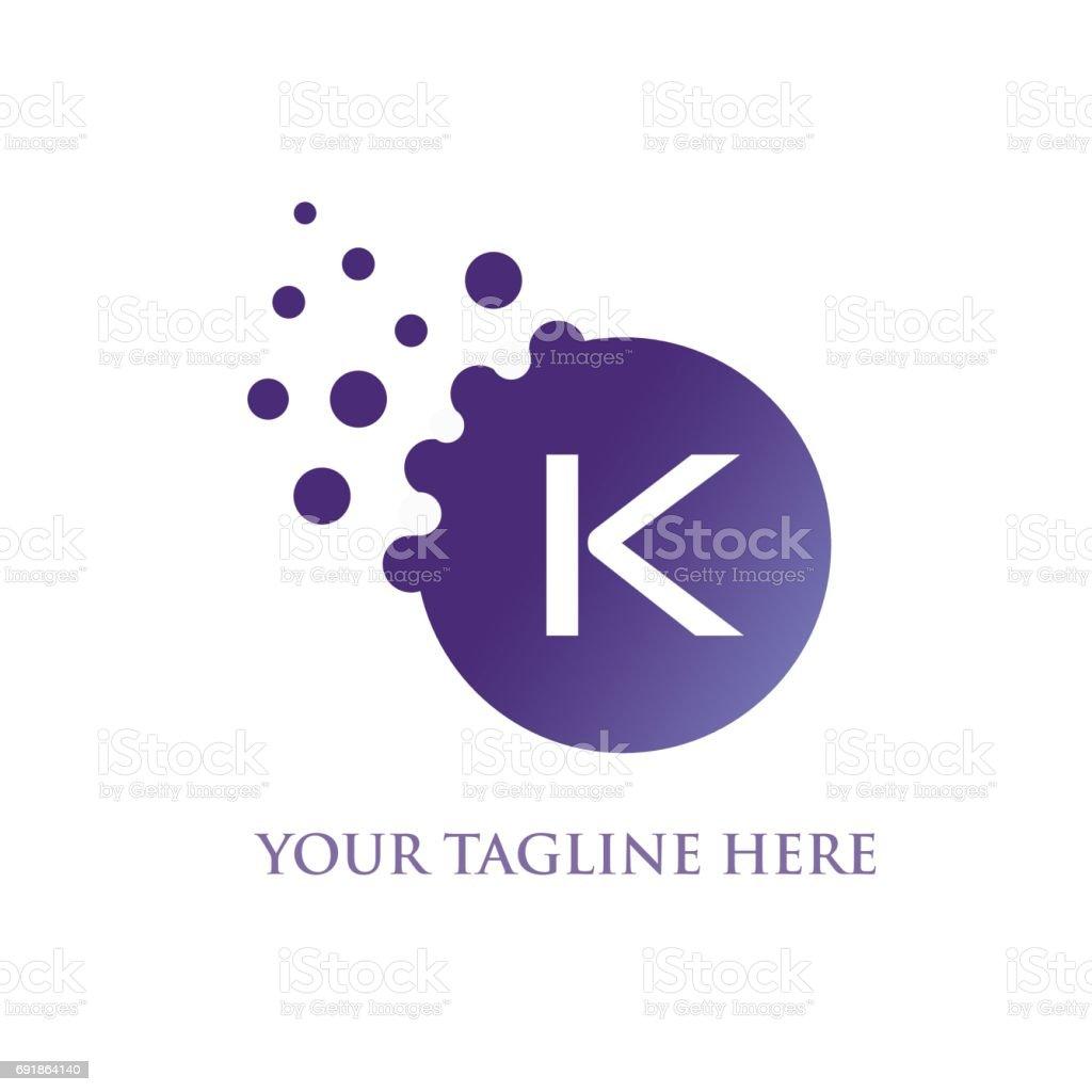 K Letter vector art illustration