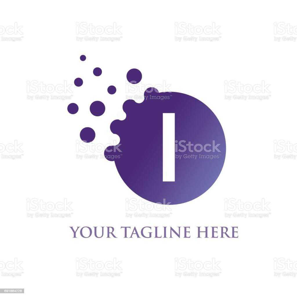 I Letter vector art illustration