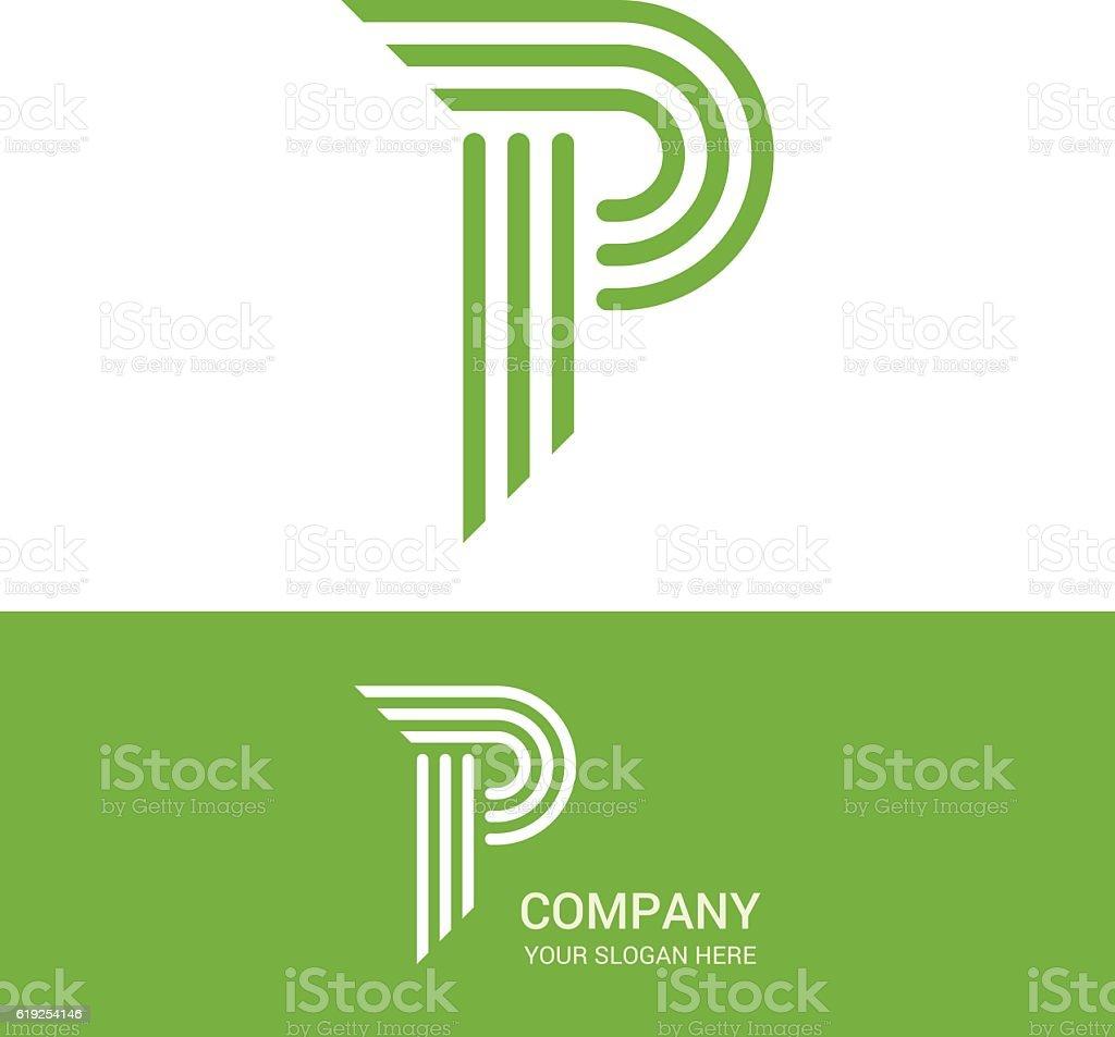 P letter vector logo design vector art illustration