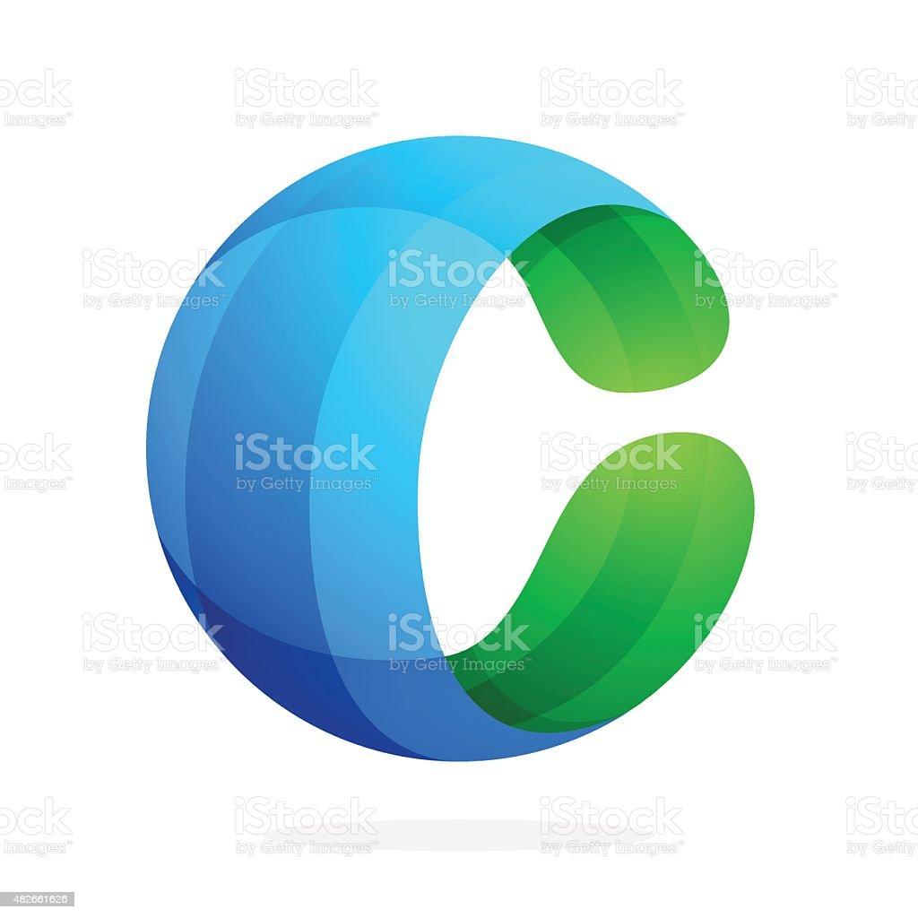 C letter volume icon vector art illustration