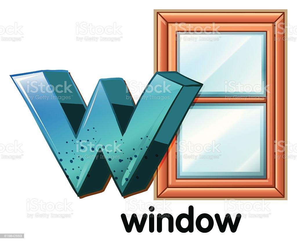 Letter W for window vector art illustration