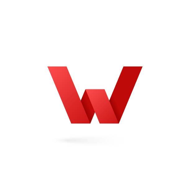 Letter W logo alphabet on white background Letter W logo on white background 10 eps w logo stock illustrations
