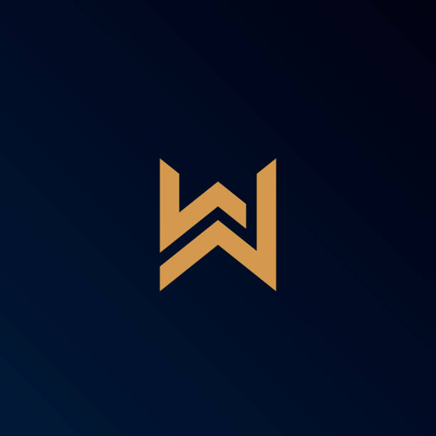 Letter W logo template. Unique modern creative elegant logotype. Vector icon. Letter W logo template. Unique modern creative elegant logotype. Vector icon. w logo stock illustrations