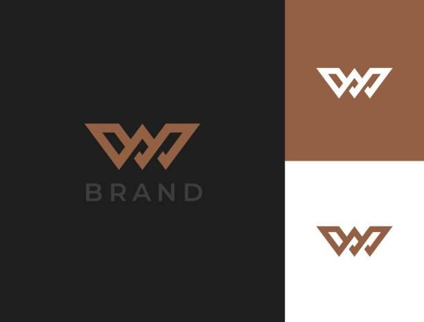 Letter W monogram. Vector icon template. Letter W monogram. Vector icon template. w logo stock illustrations