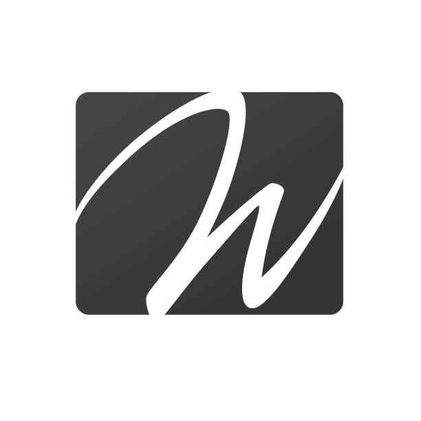 Letter W sign vector design Creative W letter vector sign design. Character symbols. Icon design for website w logo stock illustrations