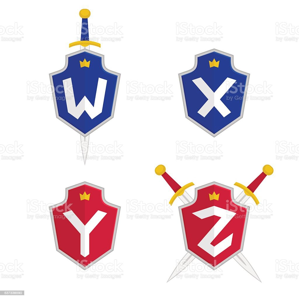 Letter W X Y Z Vector Logo Templates Stock Vector Art & More Images ...
