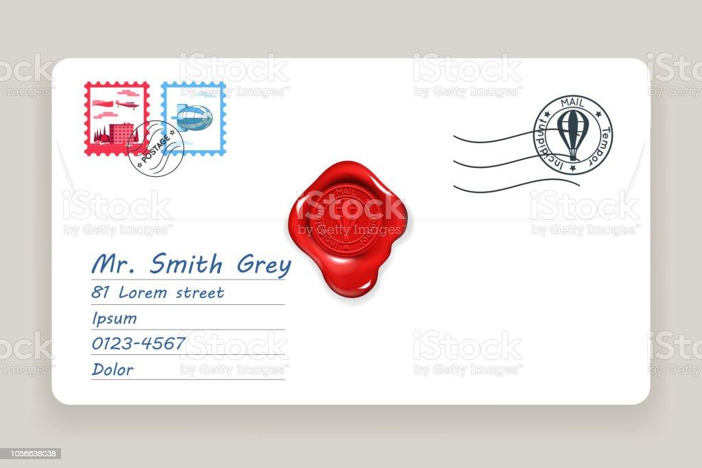 Cire De Lettre Joint Postale Adresse Postale Courrier Poste Timbre