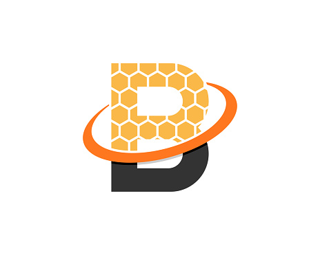 B Letter with beehive logo