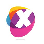 X letter with ellipses intersection icon.