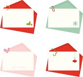 Envelope with clipped letter set.