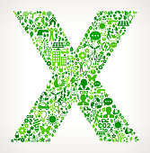 Letter X Environmental Conservation and Nature interface icon Pattern