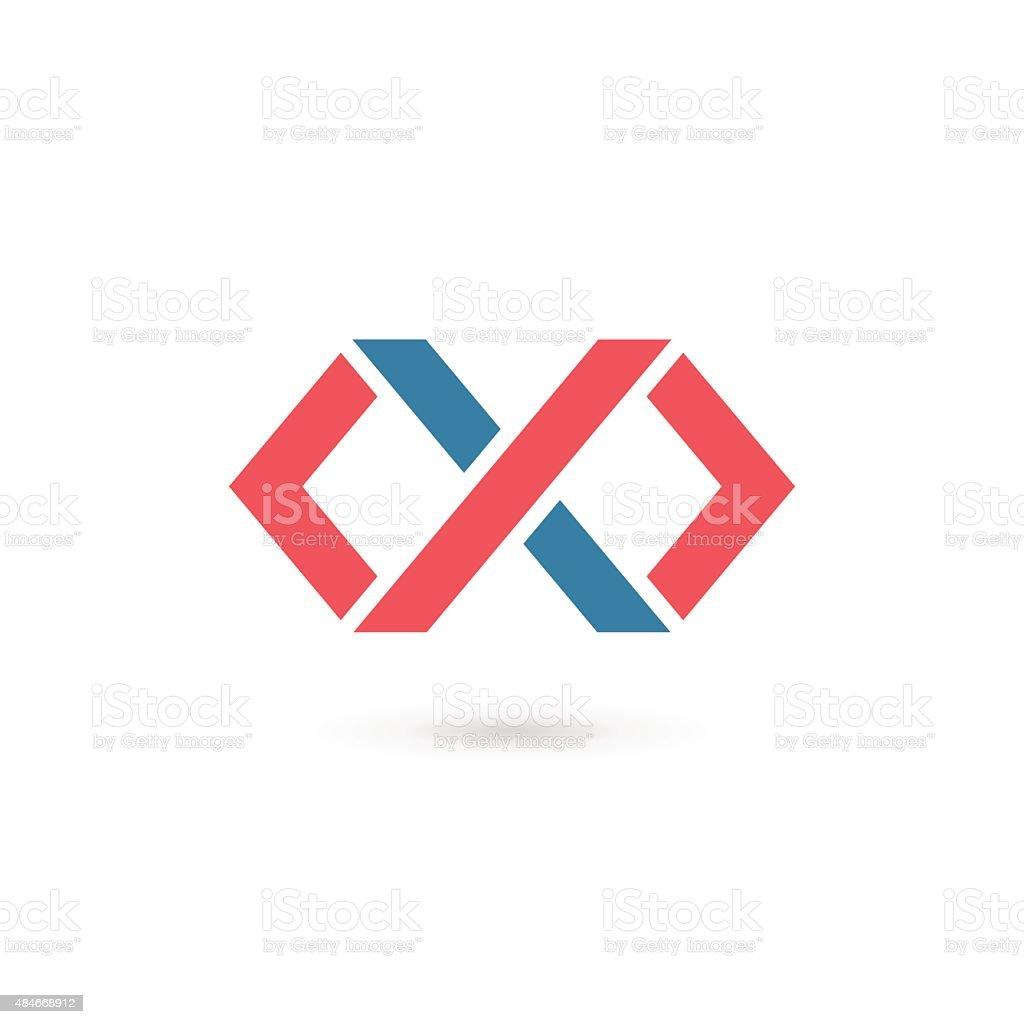 Carte De Visite Cercle Forme Gomtrique Lettre X
