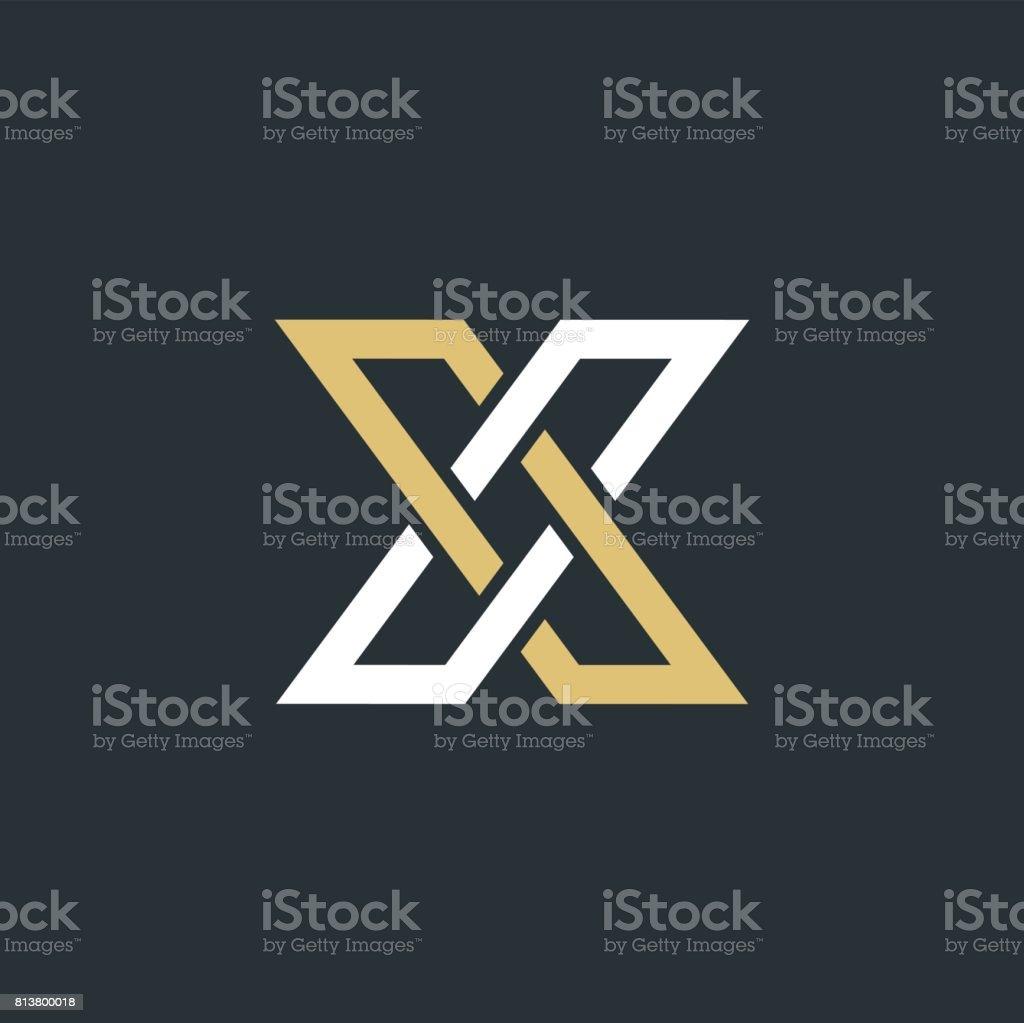 Ilustración de Elementos De La Plantilla Diseño De Letra X Logo ...