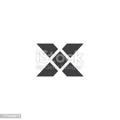 istock Letter X Logo Lettermark Monogram - Typeface Type Emblem Character Trademark 1279365675