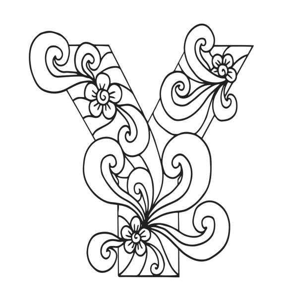 Royalty Free Fancy Letter Y Drawings Clip Art Vector Images