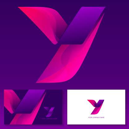 Letter Y logo design – colorful vector emblem. Business card templates.