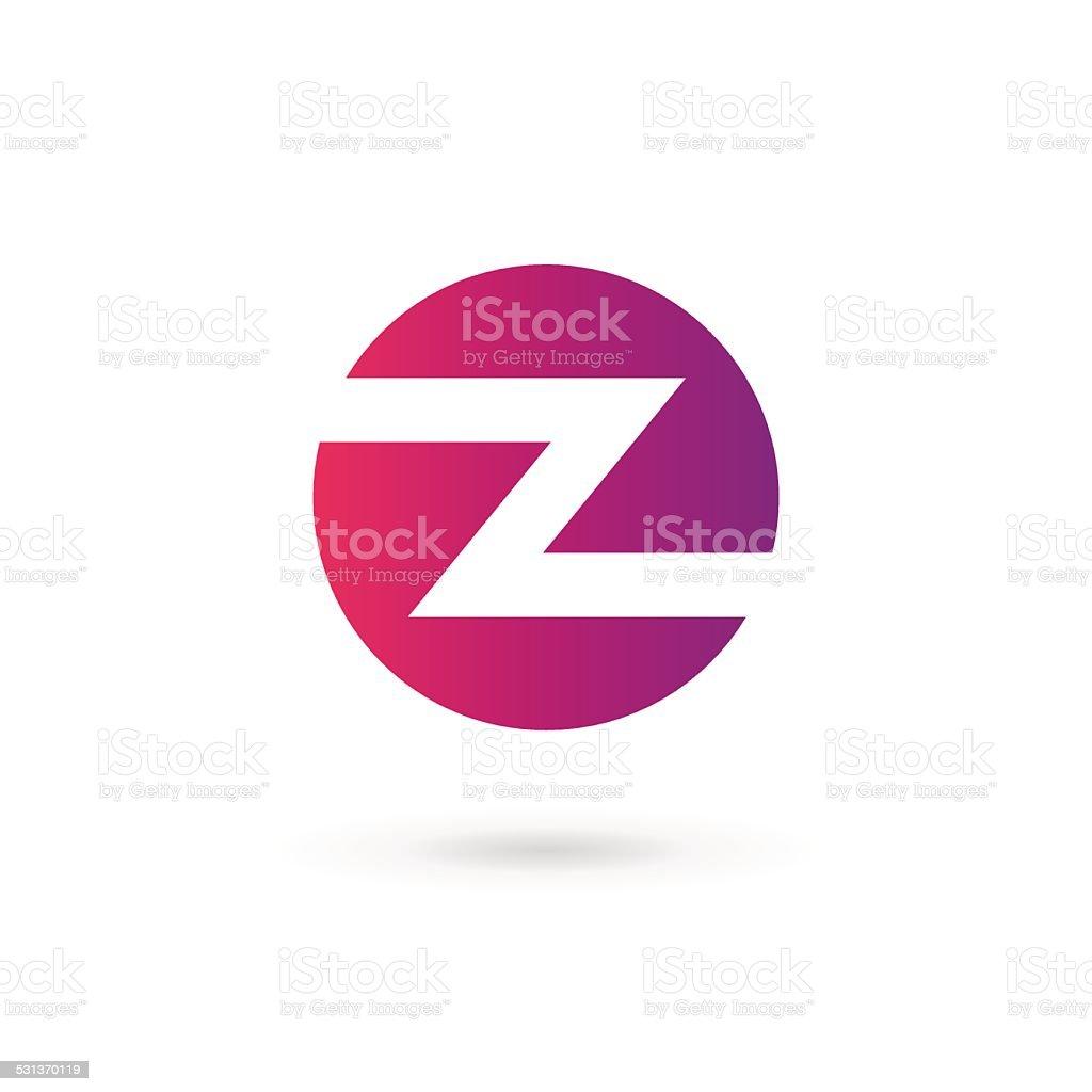 Letter Z Emblem Icon Design Template Elements Stock Vector Art ...