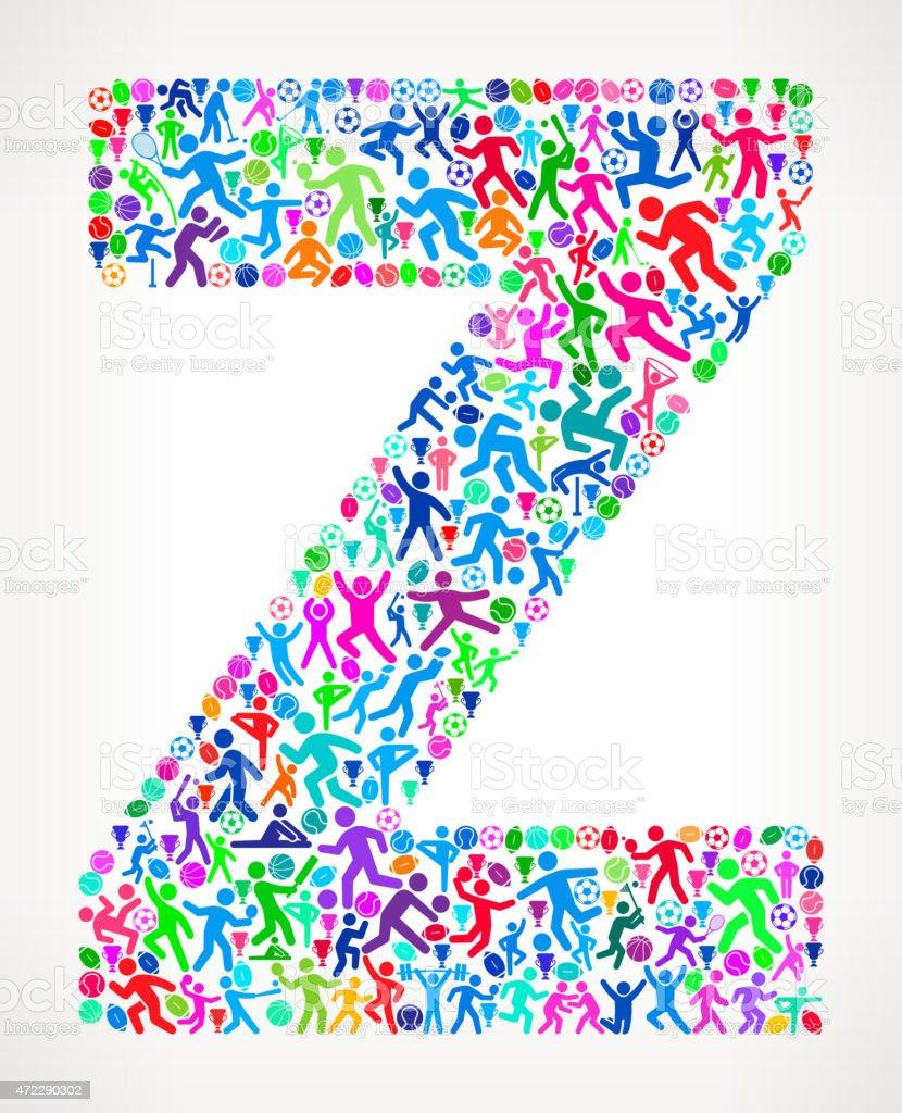 285d15c6d Letra Z Fitness esportes e exercícios com padrão de vetor de fundo vetor de  letra z