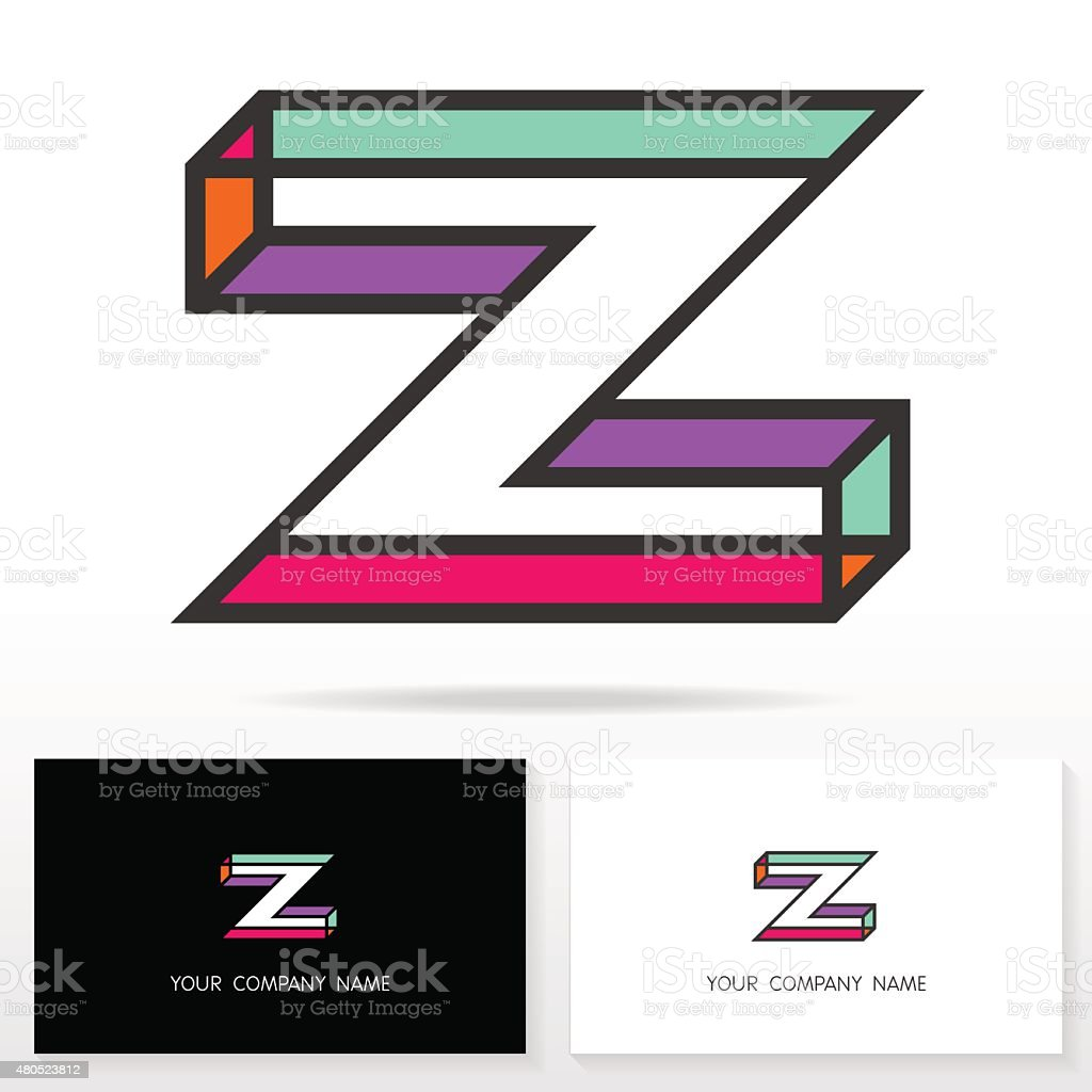 letter z logo design template elements vector illustration stock