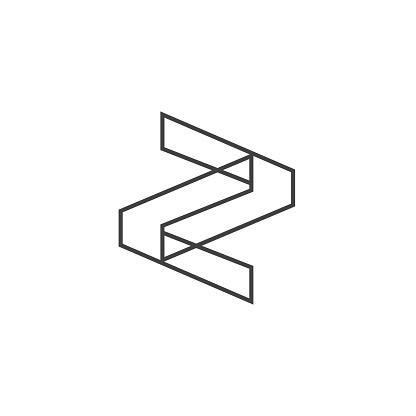 Letter Z Logo Lettermark Monogram - Typeface Type Emblem Character Trademark