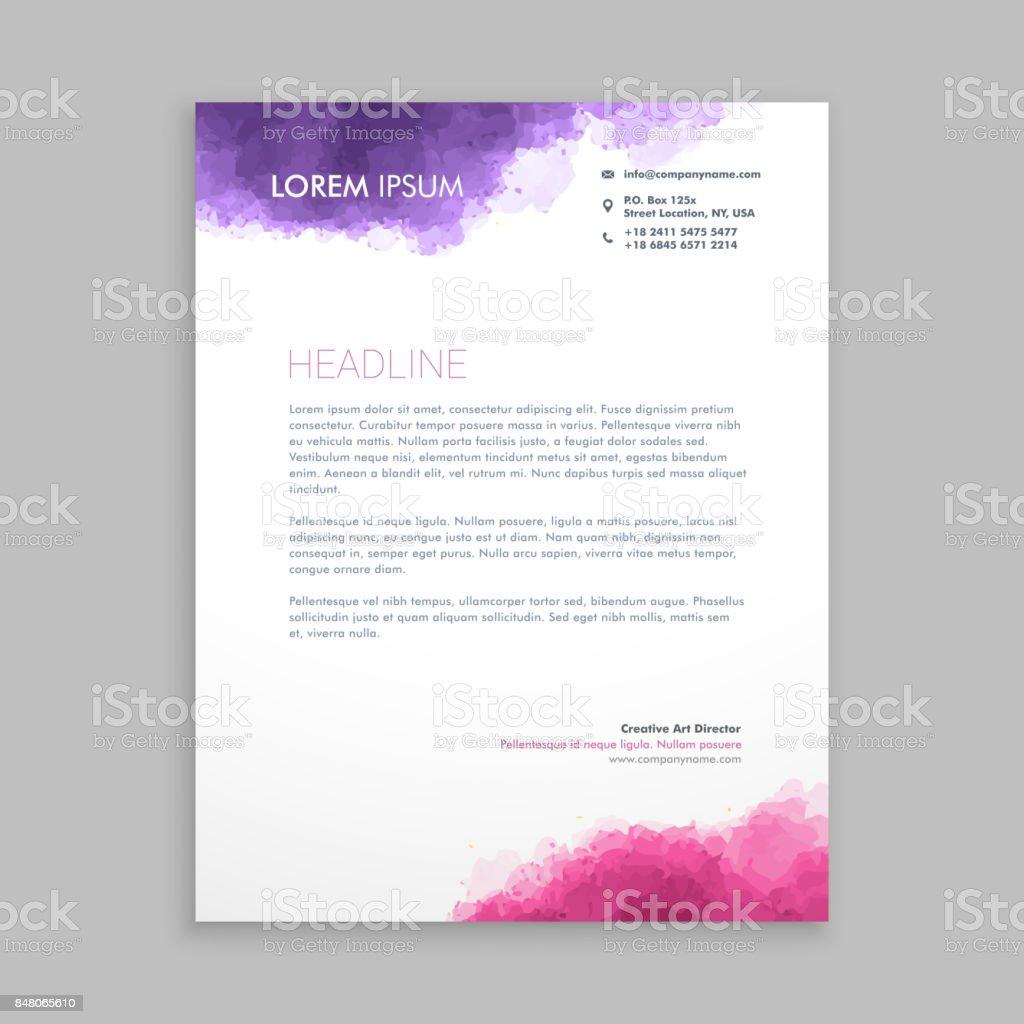Ilustración de Diseño De Membrete En La Ilustración De Diseño De ...