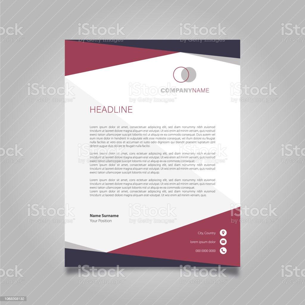Briefkopf Design Stock Vektor Art Und Mehr Bilder Von Abstrakt
