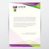 letterhead graphic design document template