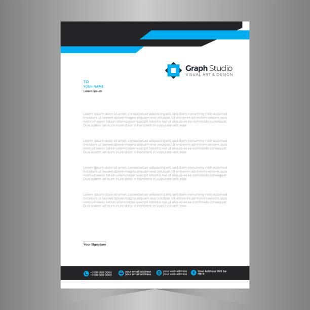 Letterhead Professional Template Letterhead Professional Template letterhead stock illustrations