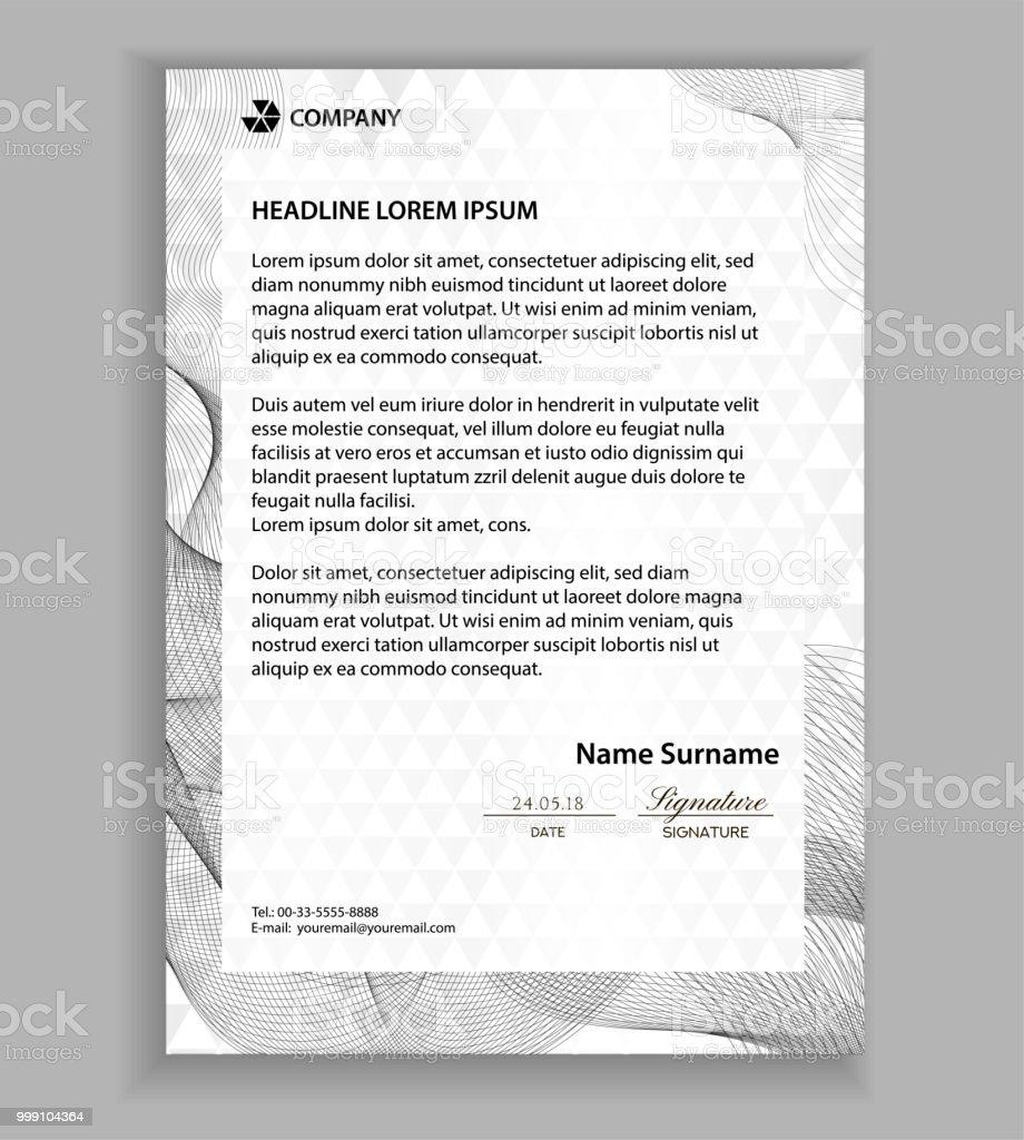 Briefkopf Vorlage Moderne Beispiele Der Corporate Identity Design