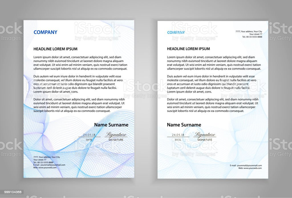 letterhead template modern examples of corporate identity design